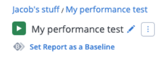 baseline report blazemeter