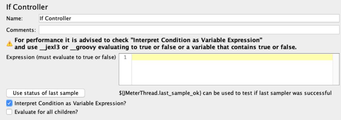 if controller jmeter