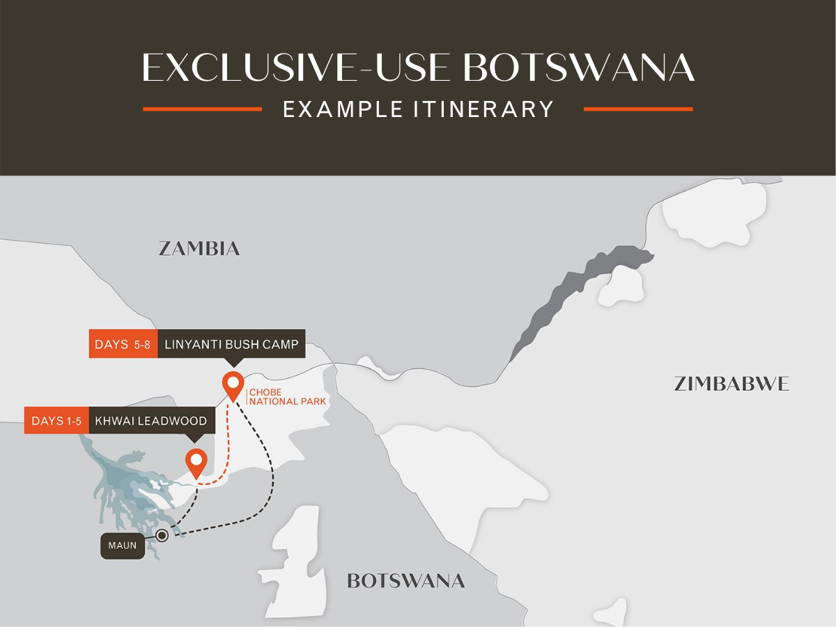 Exclusive use botswana itinerary A Travel Bubble - Exclusive-use of Camps african bush camps safari