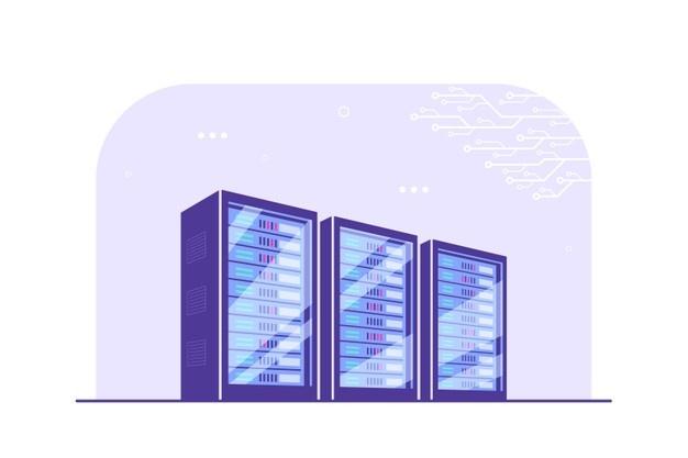 data center cabinet vector