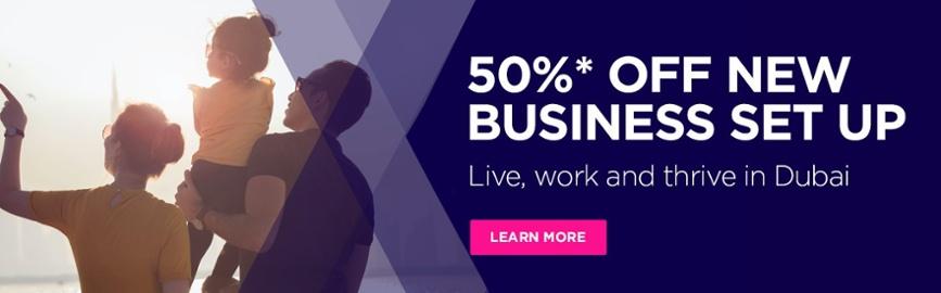 50% OFF NEW BUSINESS SET UP CTA