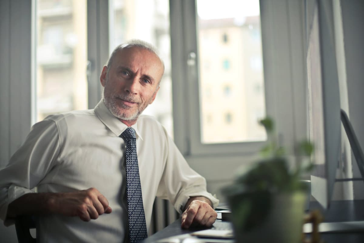Older man in tie