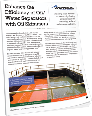 Enhance the Efficiency of Oil/ Water Separators