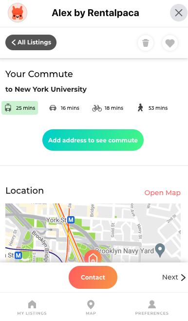 Commute time visualisation