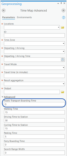 TravelTime ArcGIS Pro public transport routing