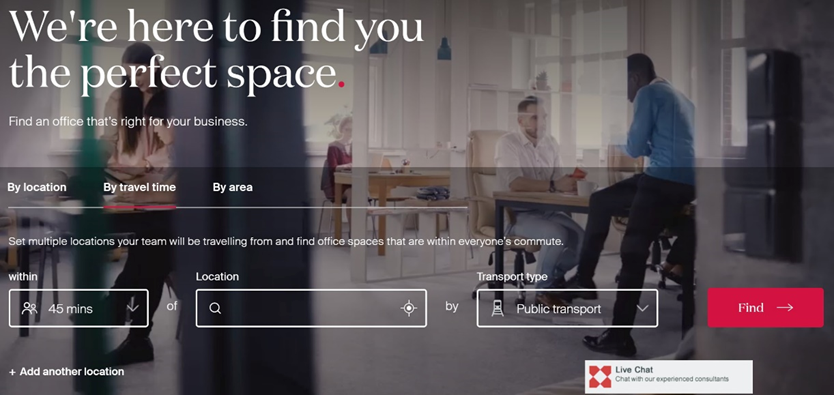 Knight Frank office space search powered by TravelTime Search