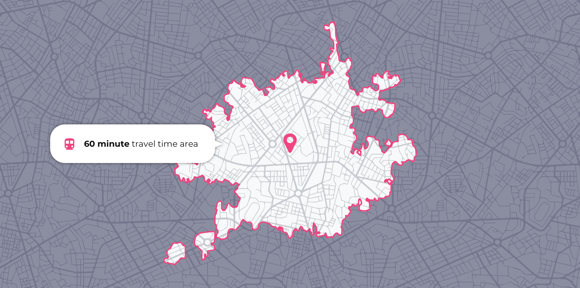travel time isochrone