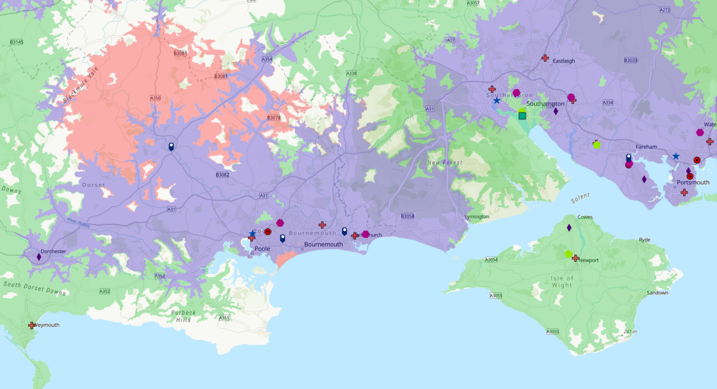 driving catchment area analysis