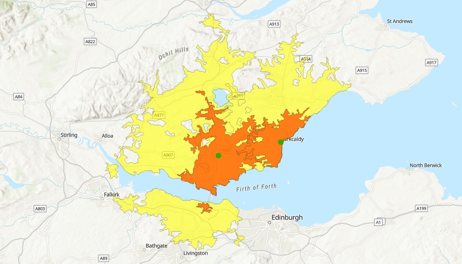 drive time catchment areas