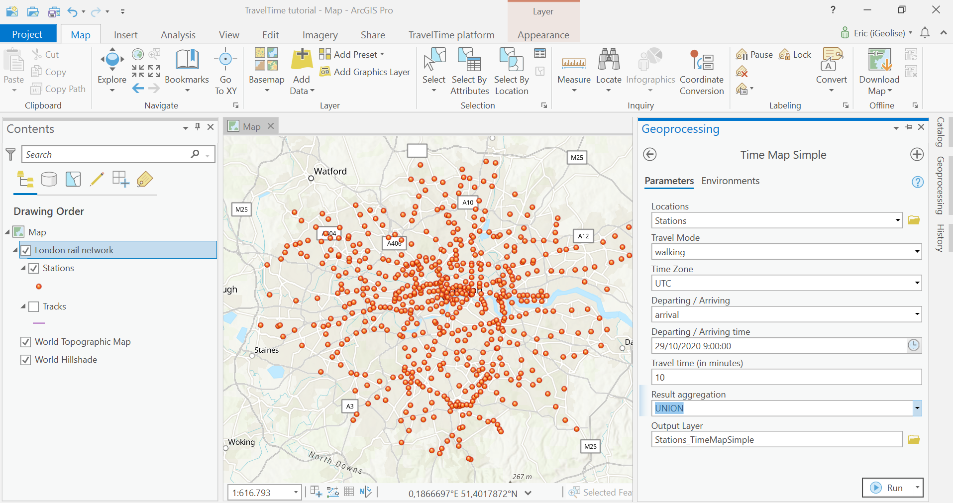 public transport network analysis in arcgis