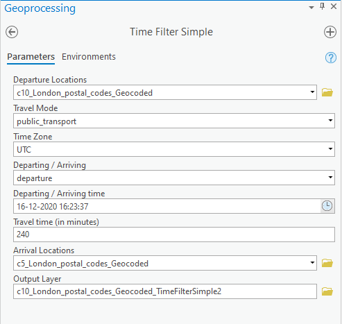 TravelTime's Time Filter (Distance Matrix)