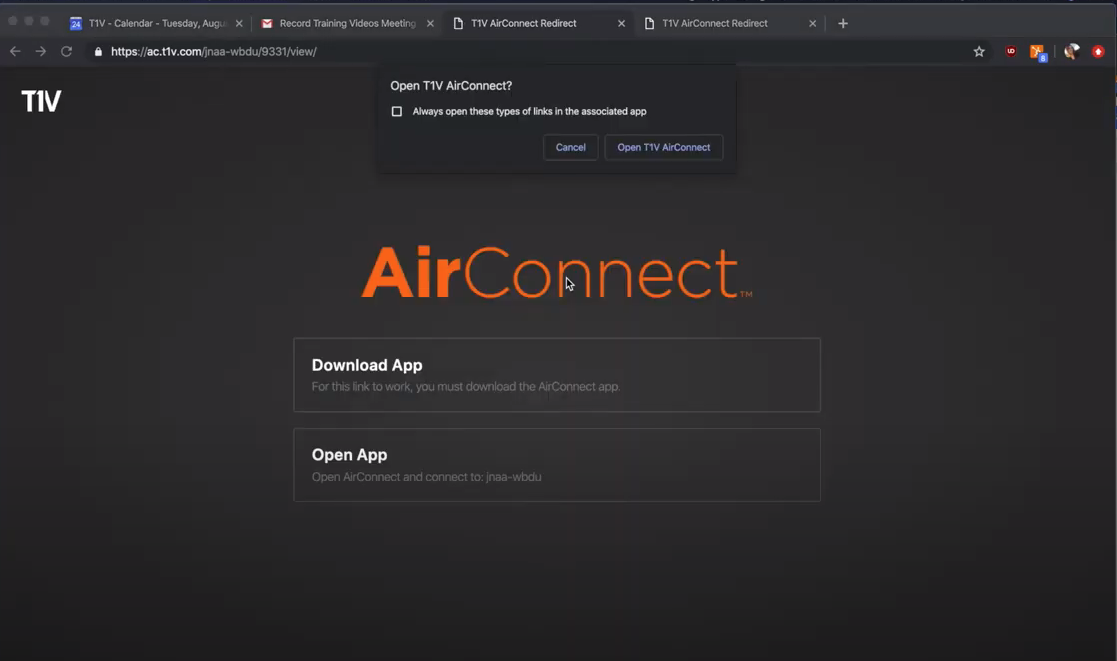 T1V_Academy_Training_How_To_Join_A_ThinkHub_Session_With_AirConnect_Launch_AirConnect