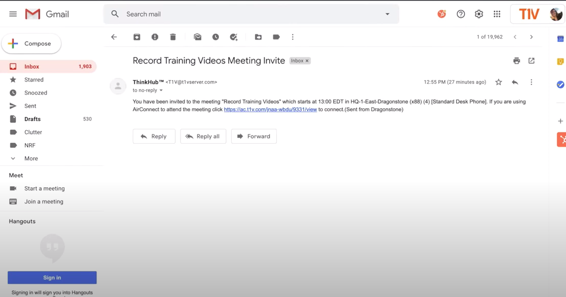 T1V_Academy_Training_How_To_Join_A_ThinkHub_Session_With_AirConnect_Scheduling_Link
