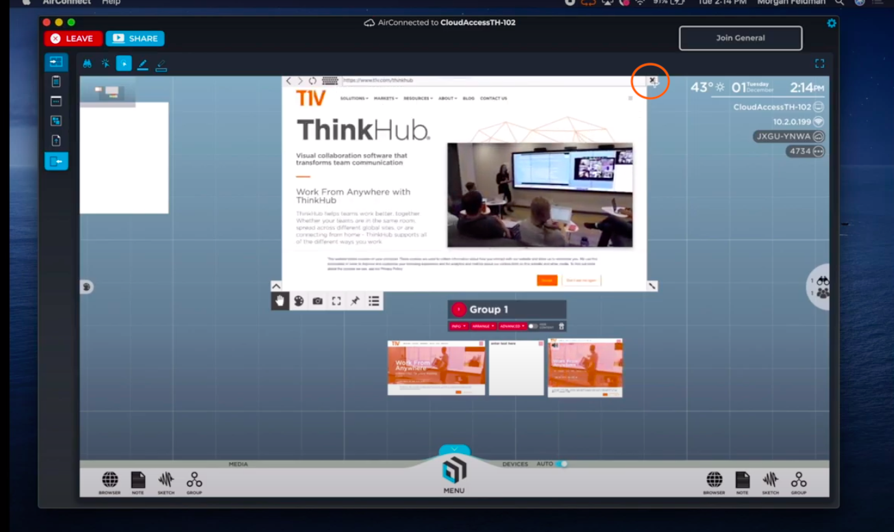 t1v-training-how-to-use-built-in-apps-in-thinkhub-with-airconnect-delete-content