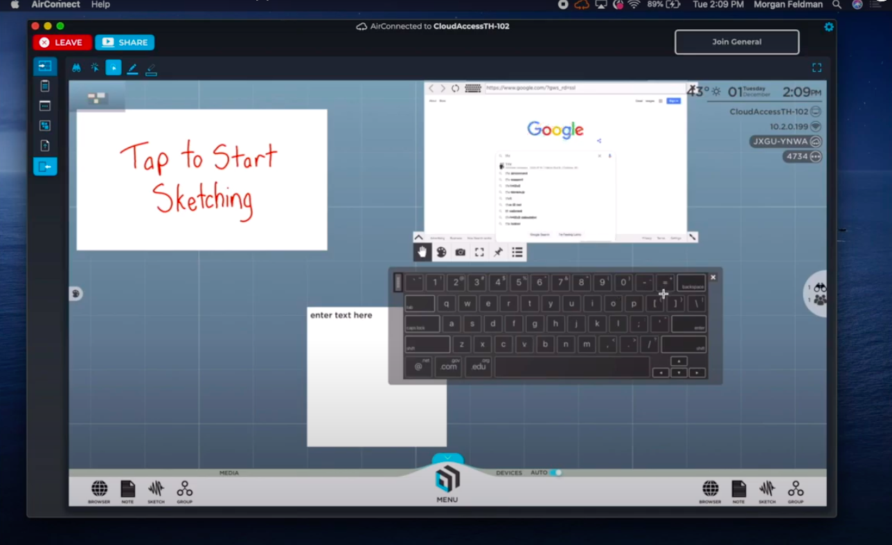 t1v-training-how-to-use-built-in-apps-in-thinkhub-with-airconnect-search-web-browser