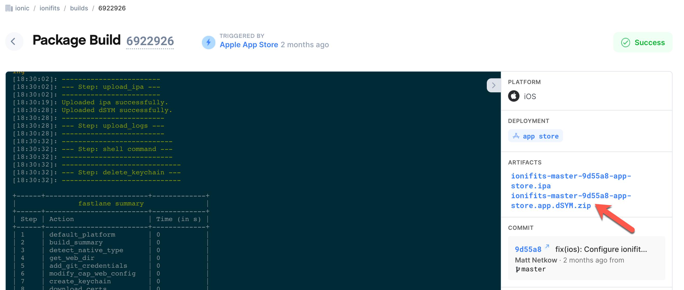 appflow-ios-debug-symbols
