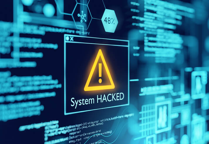 system hacked graphic