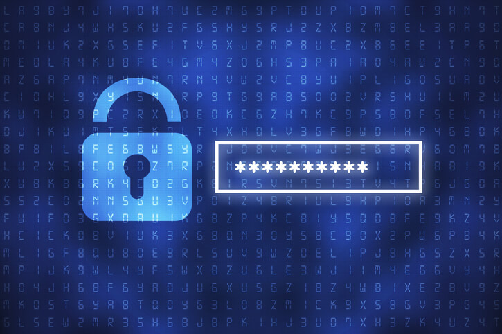 Secure password in front of data