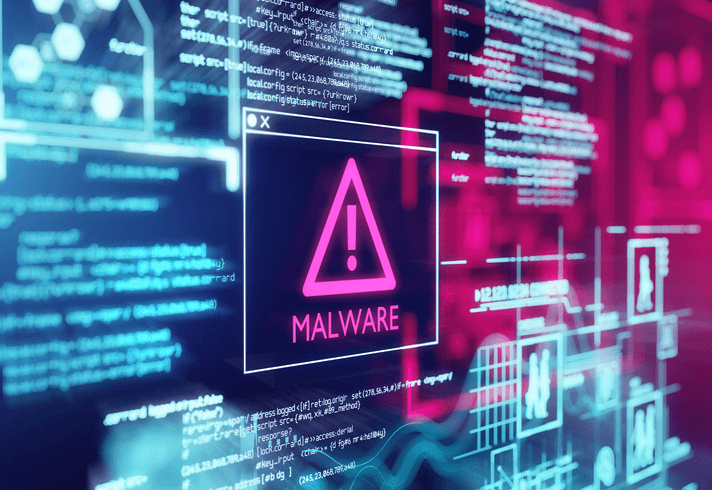 notification of malware infection popping up on a computer