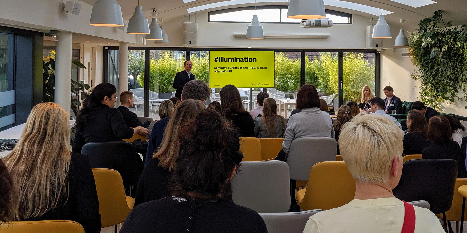 #illumination event: Company purpose in the FTSE: a glass half full?