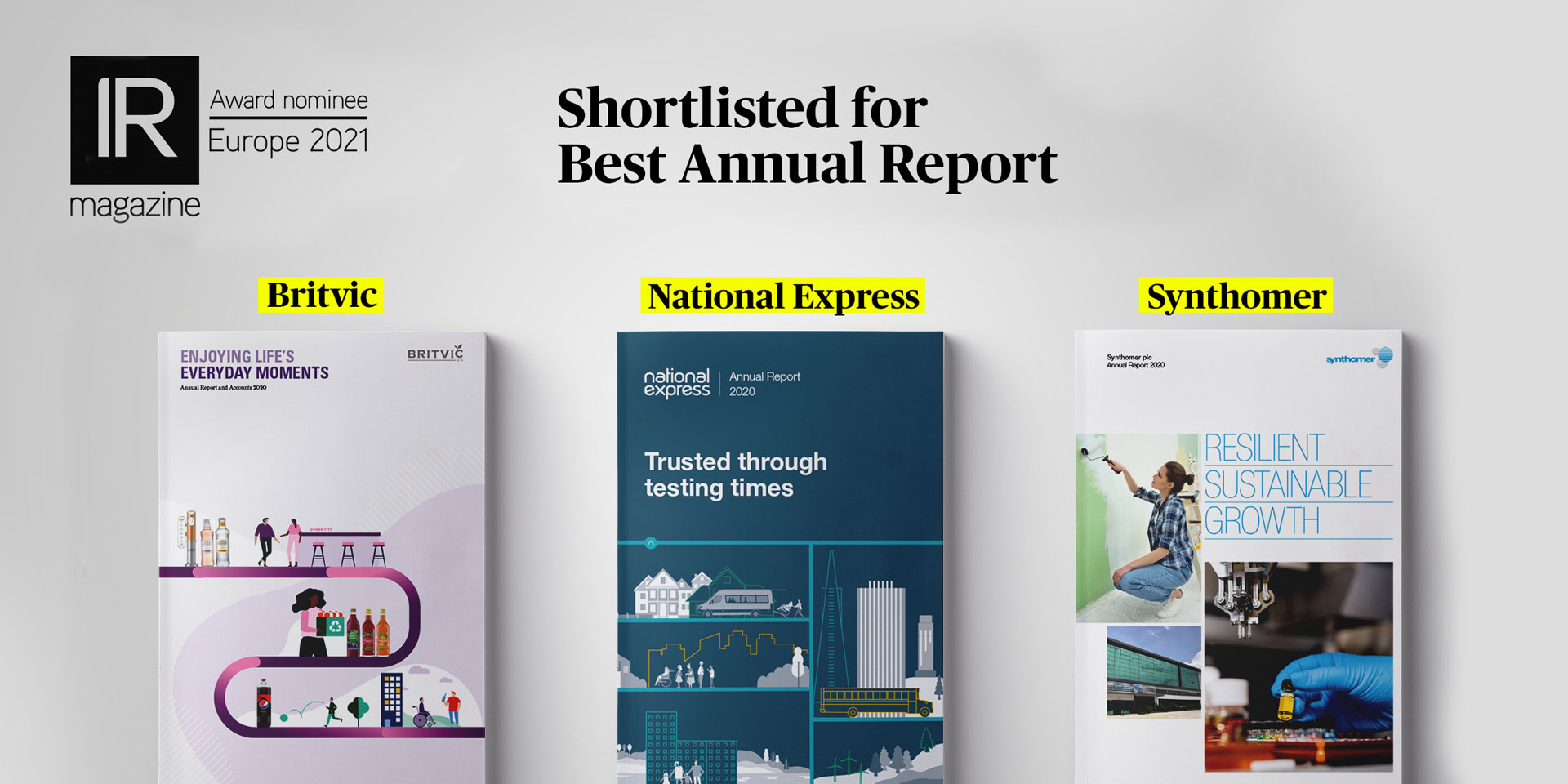 Three nominations in the IR Magazine Awards