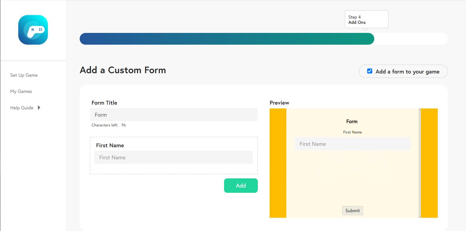 Add a Custom Form - Wix