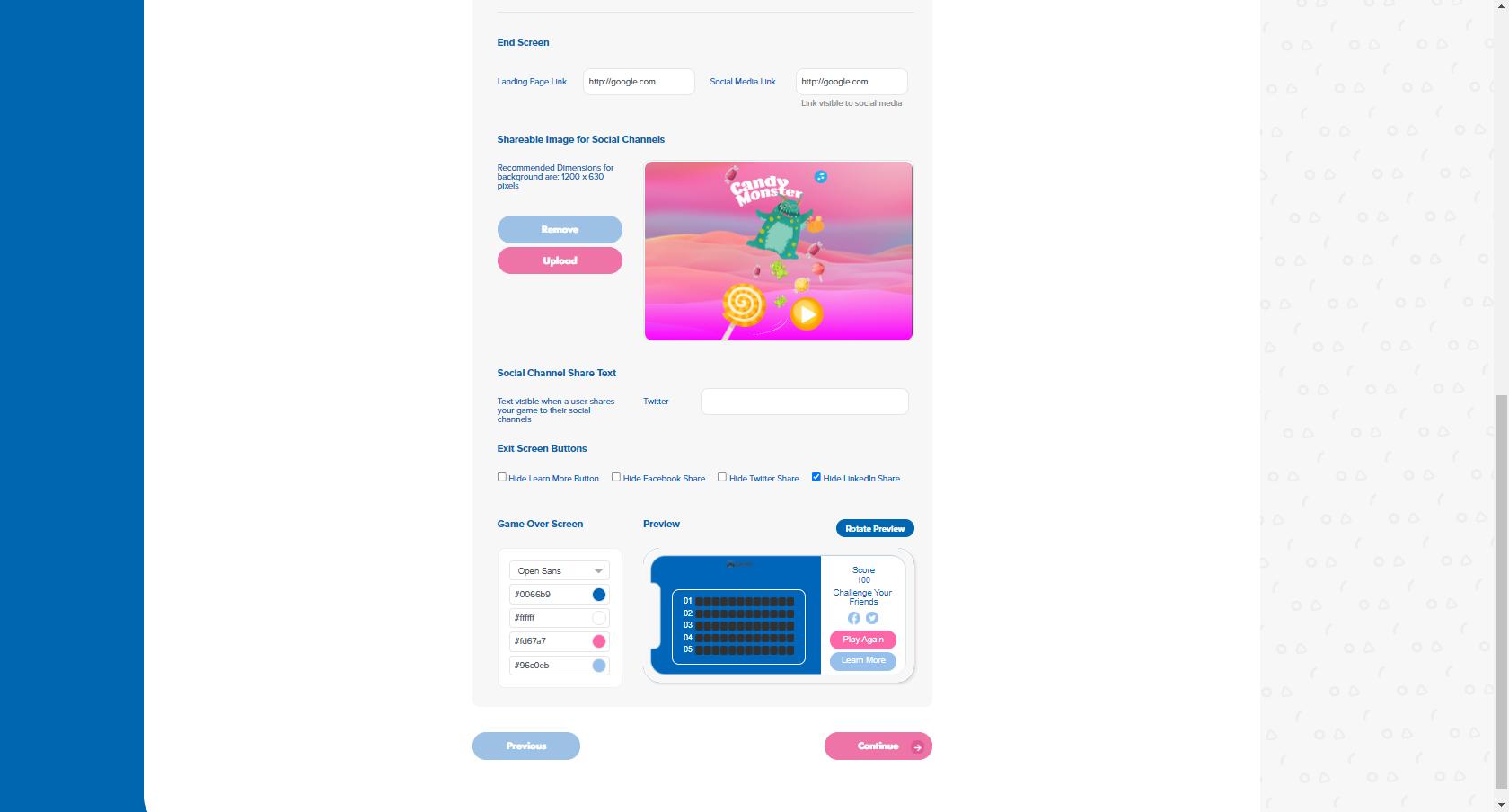 Customize End Screen - Gizmo