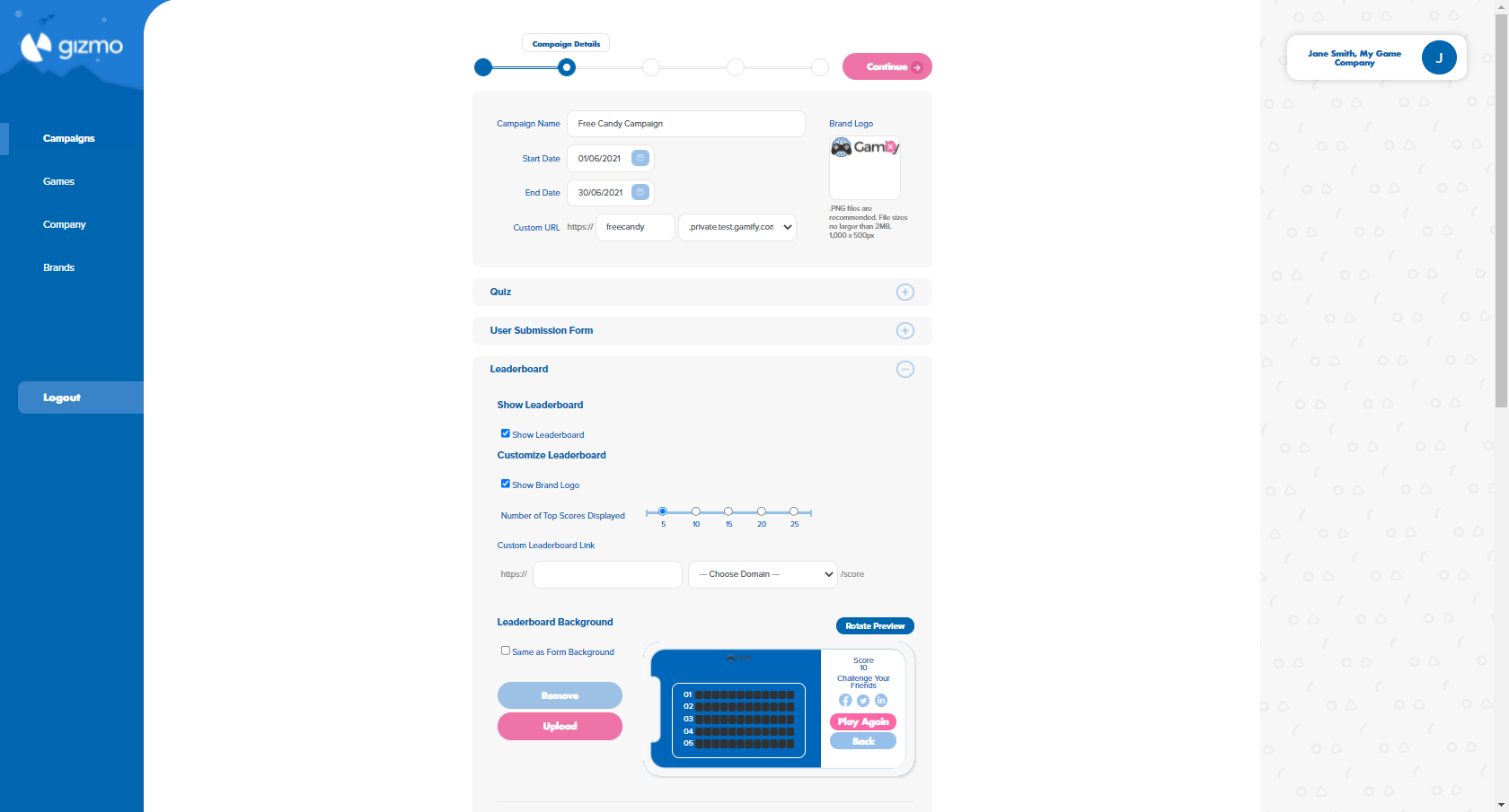 Leaderboard Customization - Gizmo