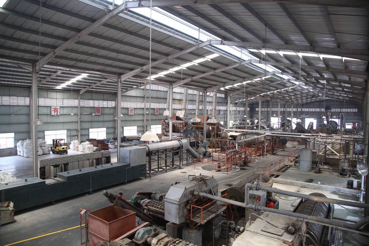 Inside Luhai recycling center