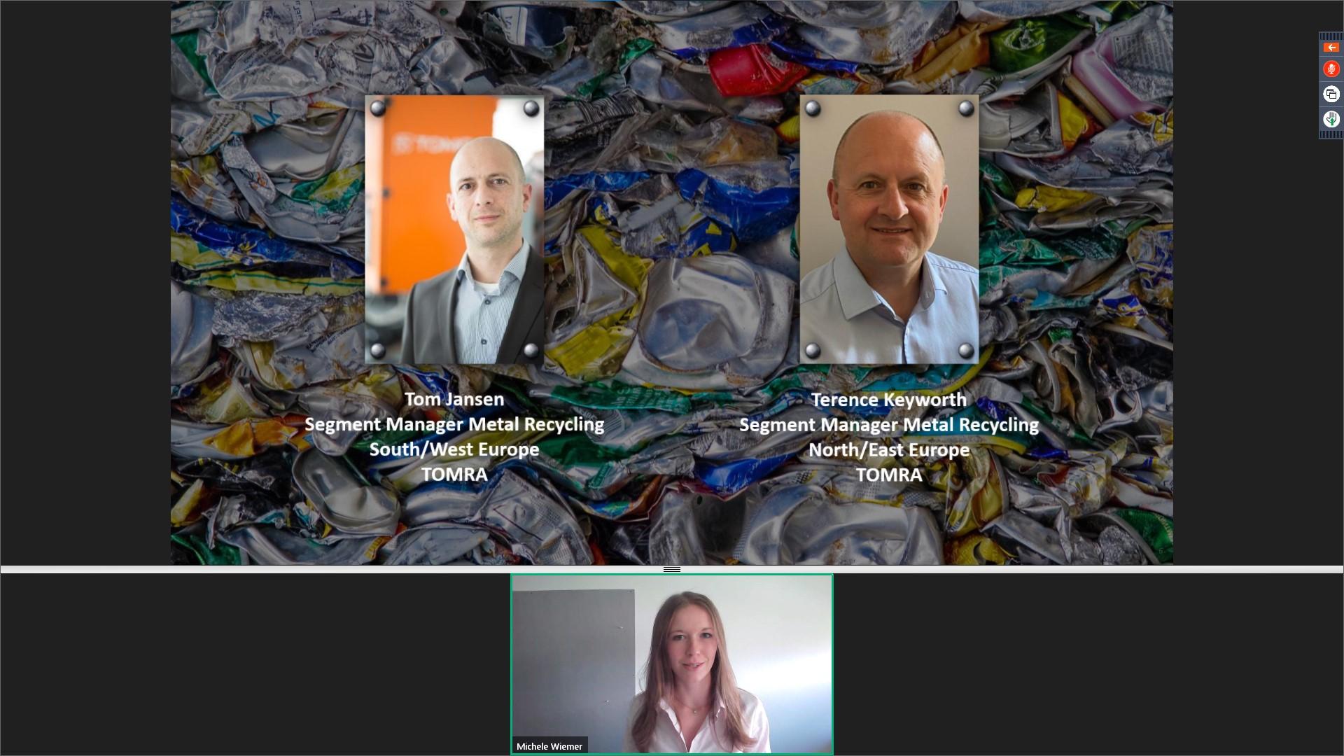 TOMRA_Segement Managers Tom Jansen, Terry Keyworth and host Michèle Wiemer