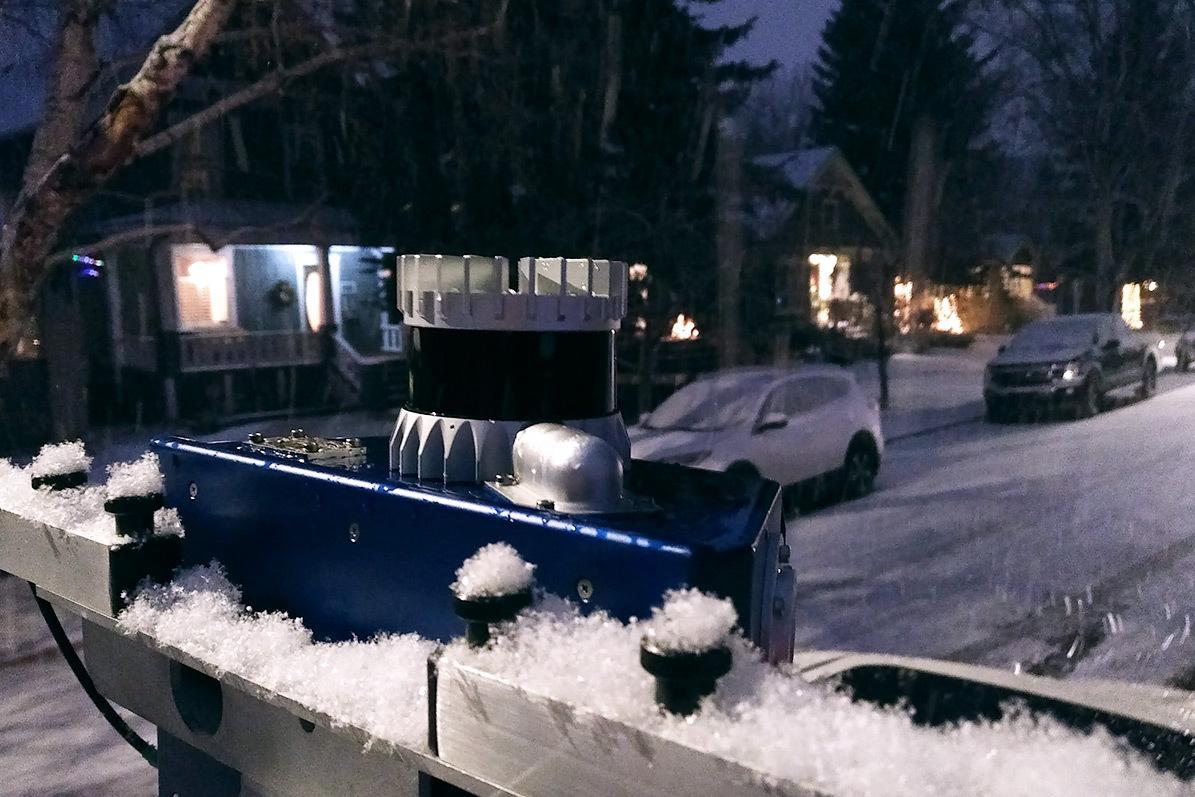 Ouster Sensor in Snow