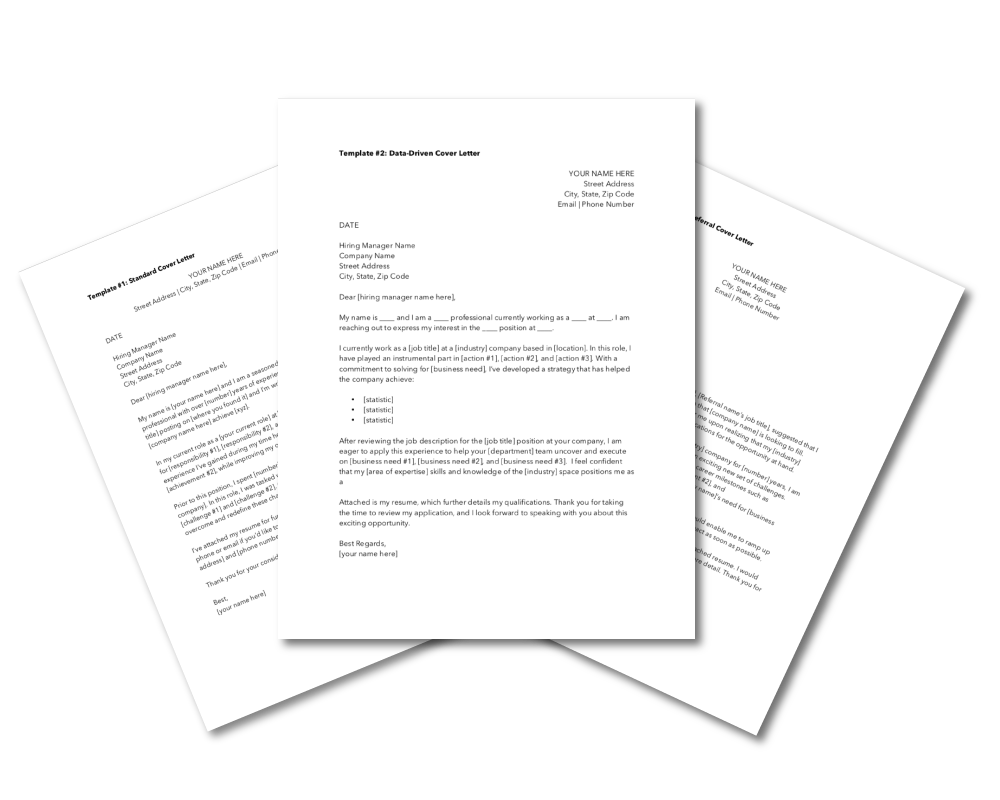 5 Professional Cover Letter Templates