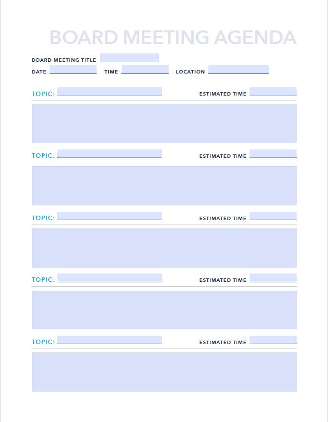 9 Free Agendas Schedules Templates Examples Hubspot