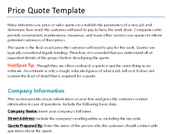 Free Price Quote Template For Pdf Word Hubspot