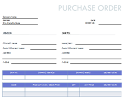Free Purchase Order Template For Pdf Excel Hubspot