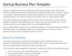 Free Startup Business Plan Template For Pdf Word Hubspot