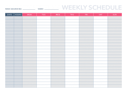 Free Weekly Schedule Template For Pdf Excel Hubspot
