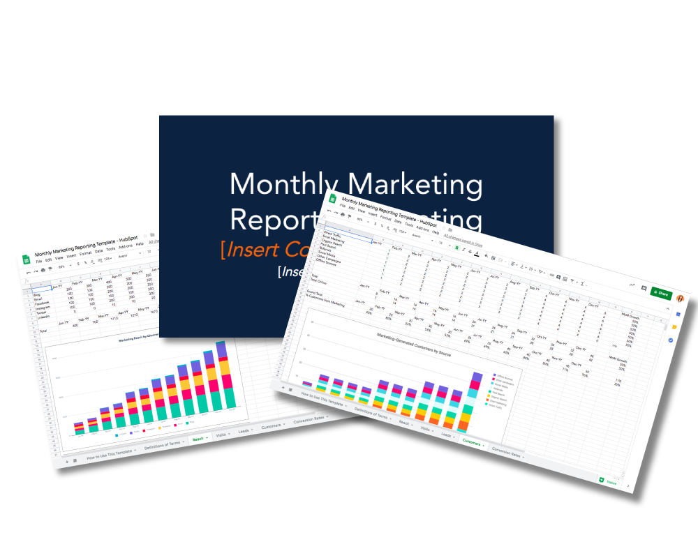 Monthly Marketing Reporting Templates