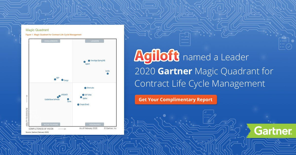 2020 Gartner Magic Quadrant for Contract Life Cycle Management