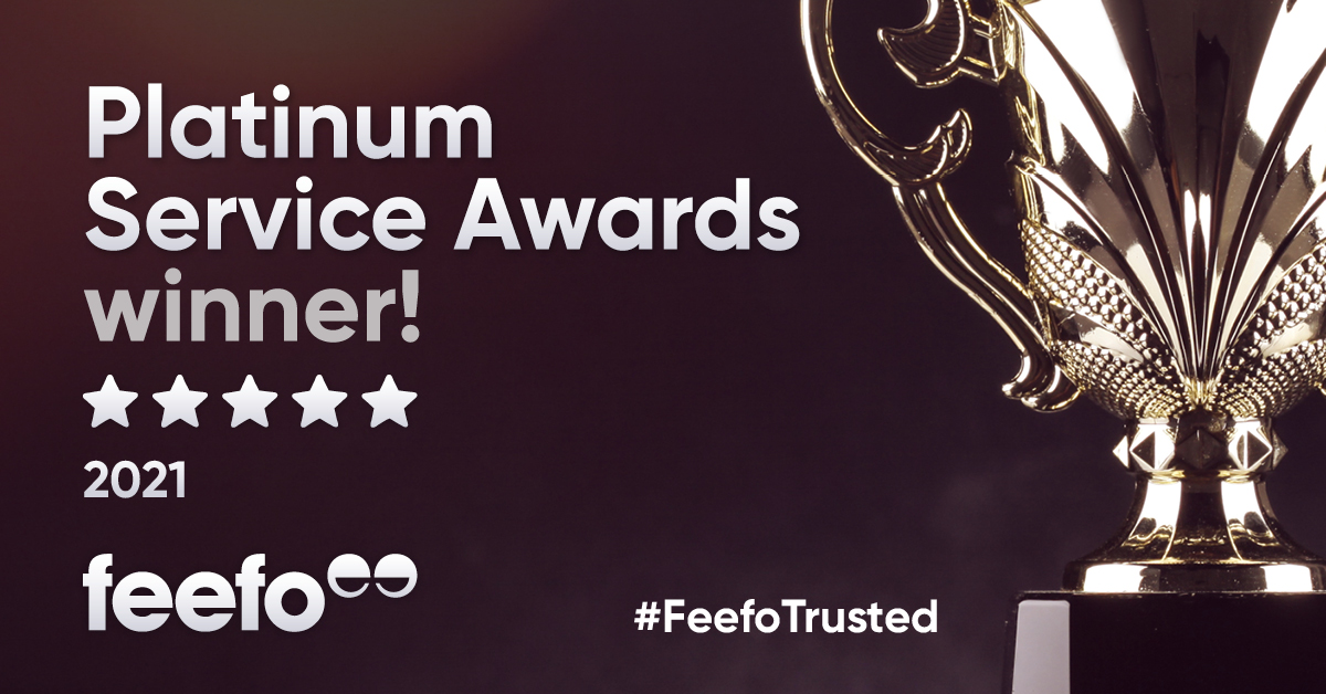 We received the Feefo 2021 Platinum Trusted Service Award