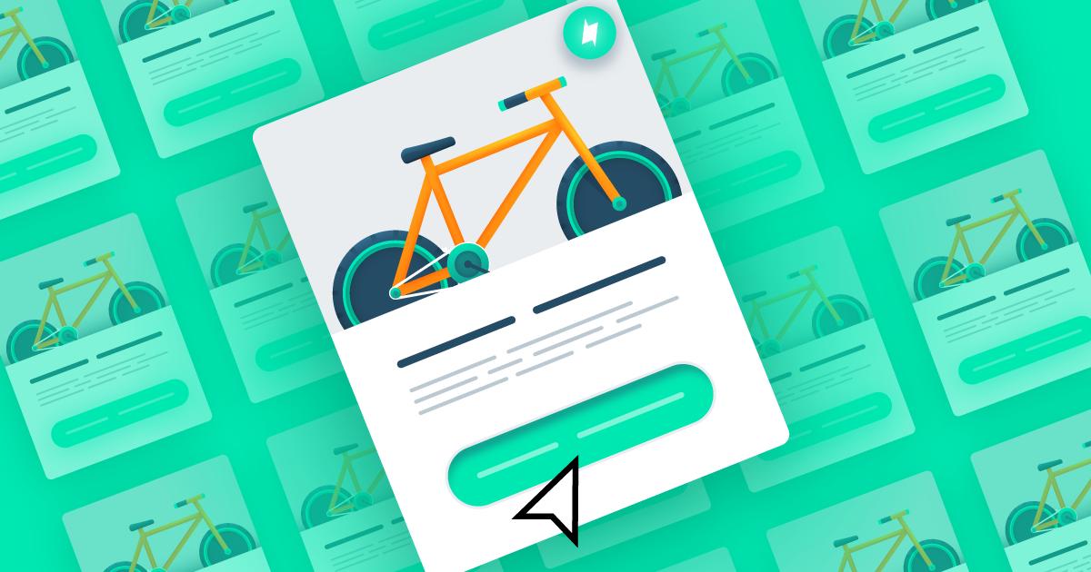 image of Bike listing on Amazon (green)