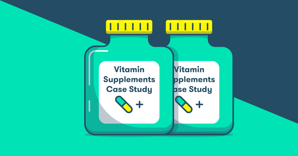 Image of vitamin supplements for a case study
