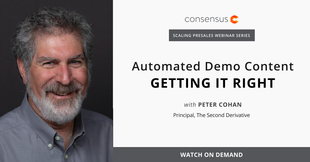 Webinar- Automated Demo Content - Getting It Right