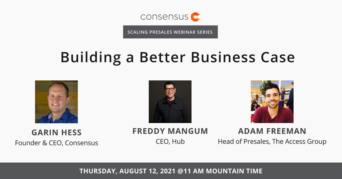 Webinar: Building a Better Business Case