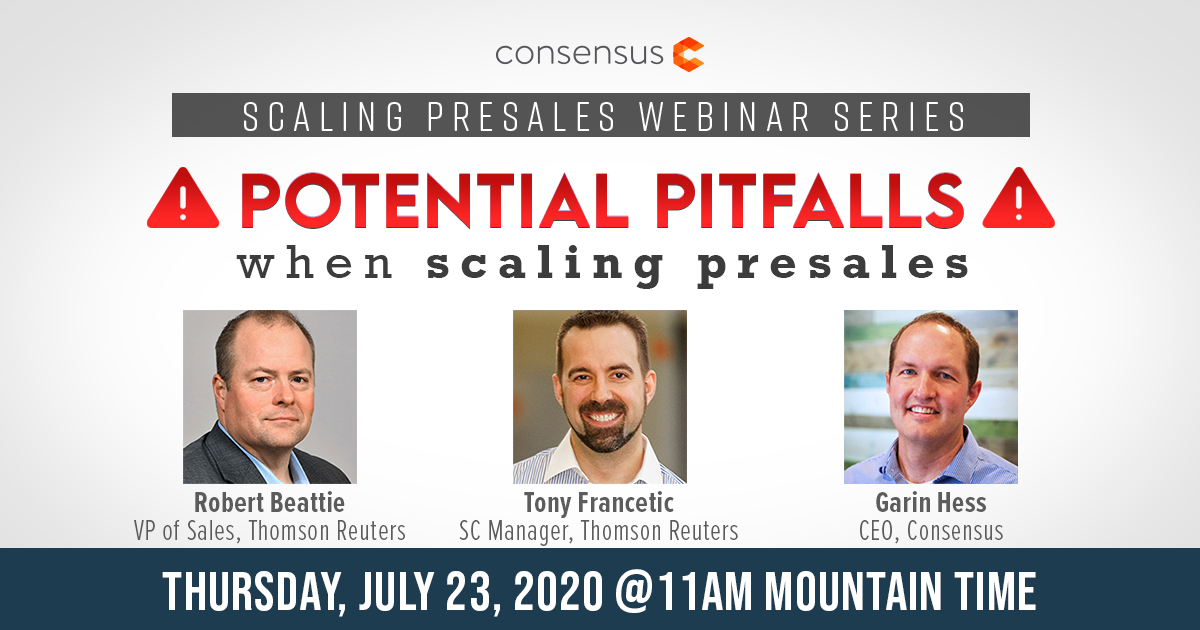 Webinar - Potential Pitfalls When Scaling Presales