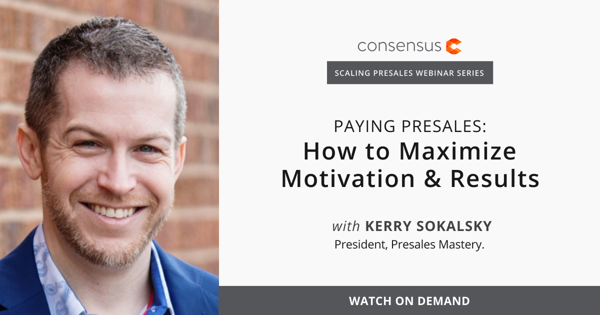 Webinar- Paying Presales: How to Maximize Motivation & Results
