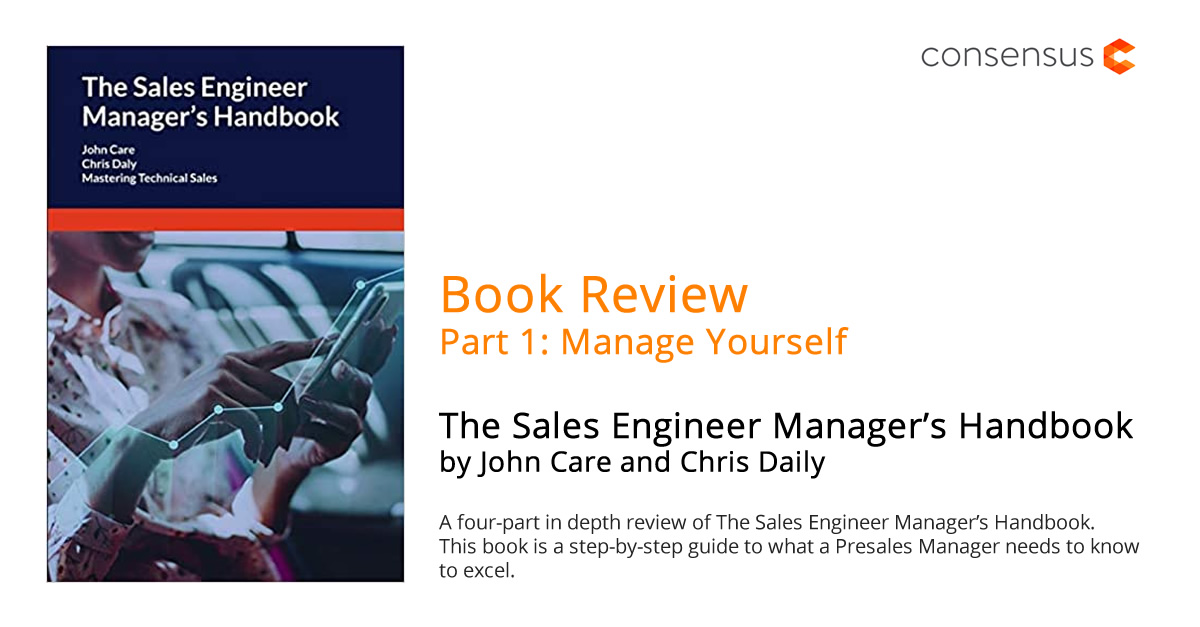 Book Review (Part 1): The Sales Engineer Manager's Handbook by John Care and Chris Daly