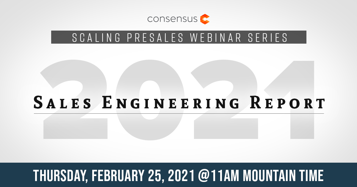 Webinar - 2021 Sales Engineering Compensation & Benchmark Update