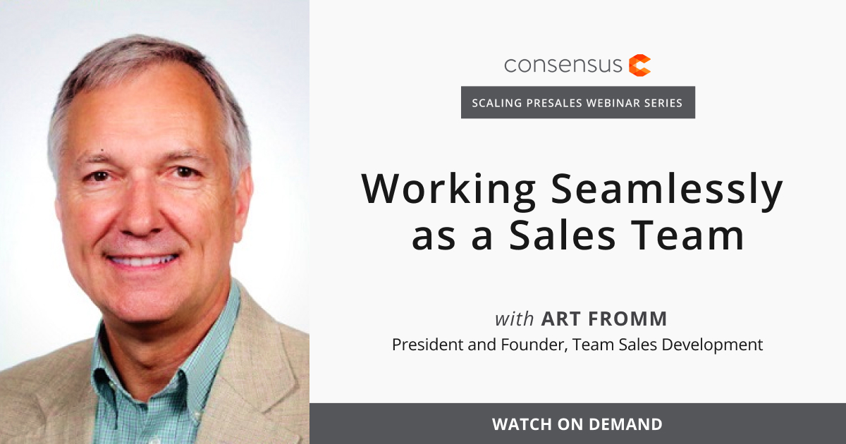 Webinar- Working Seamlessly as a Sales Team