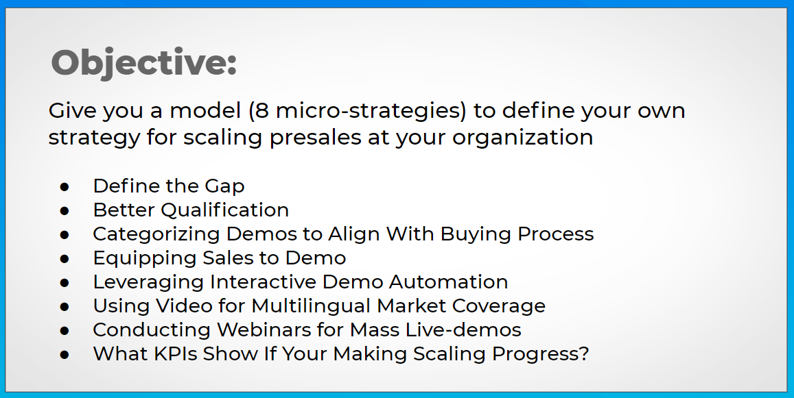8 micro-strategies to scale presales.
